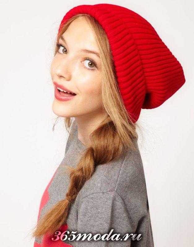 модные цветные шапки