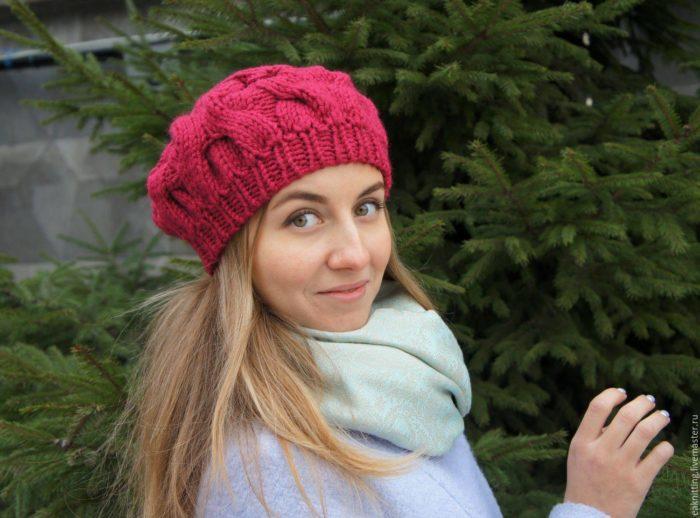модный головной убор осень-зима: вязаные береты