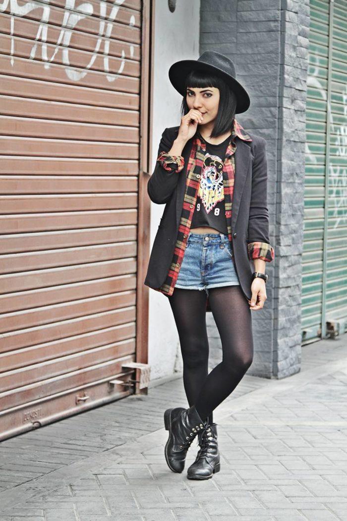 модные луки в стиле гранж
