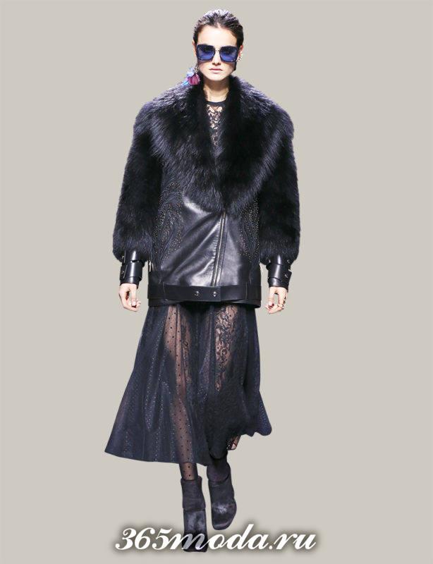 в моде кожаное пальто