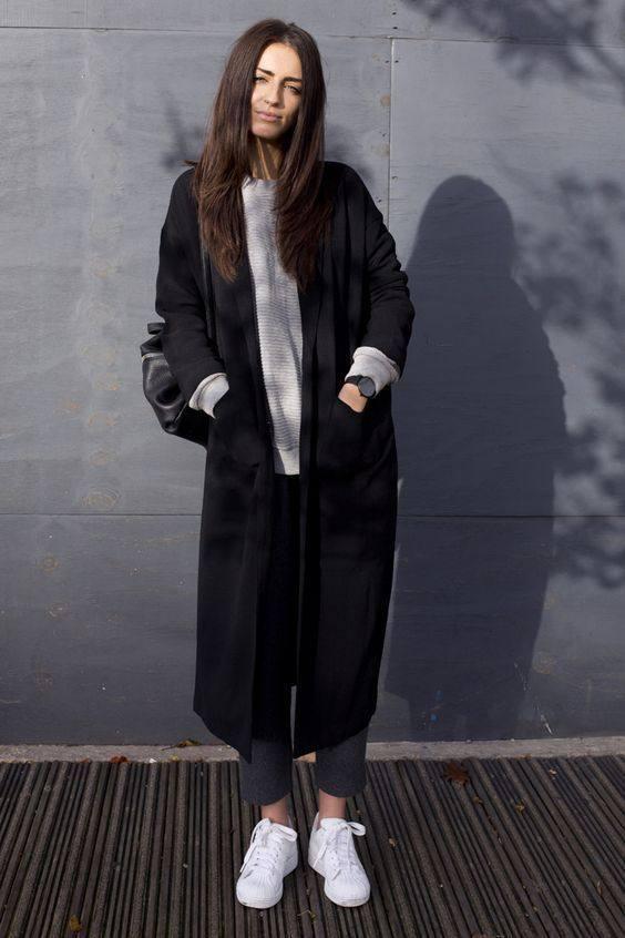 модное пальто в спортивном стиле