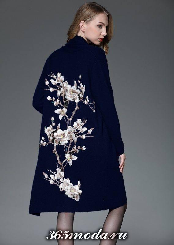 модное декорированное пальто