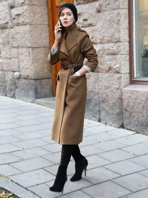 модная длина пальто