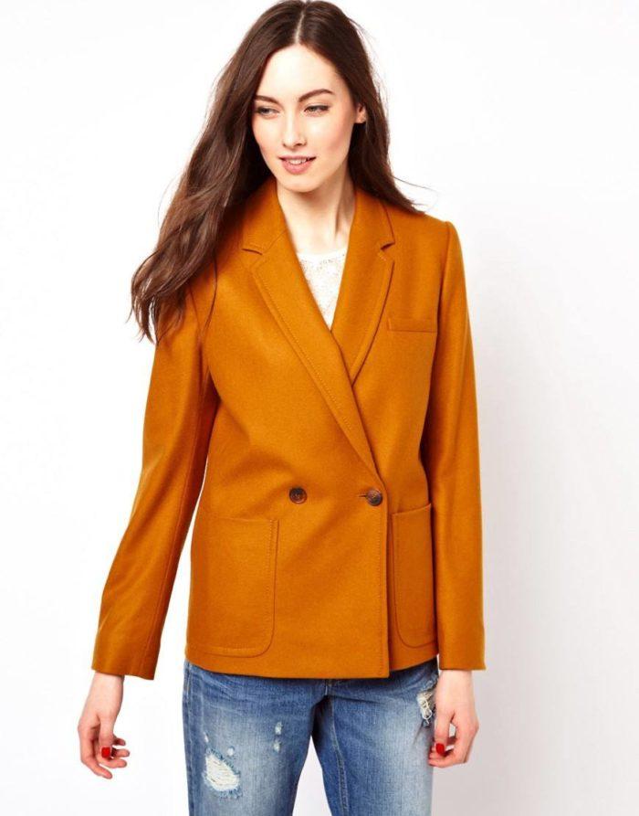модные пиджаки осень-зима 2019-2020: горчичного цвета