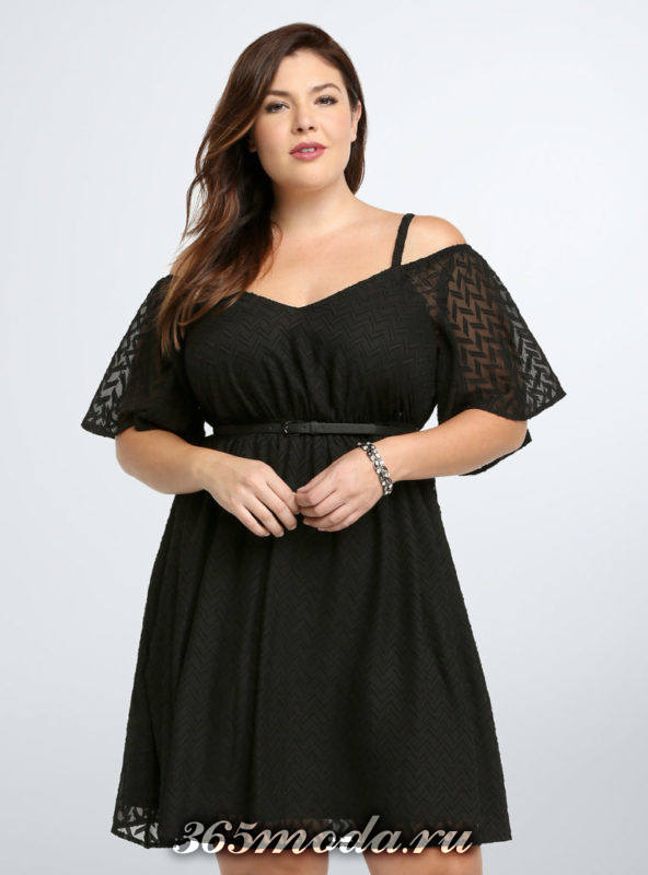модные фасоны платьев для полных