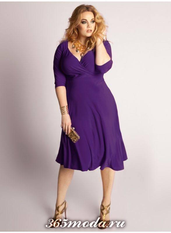 модные цвета платьев для полных