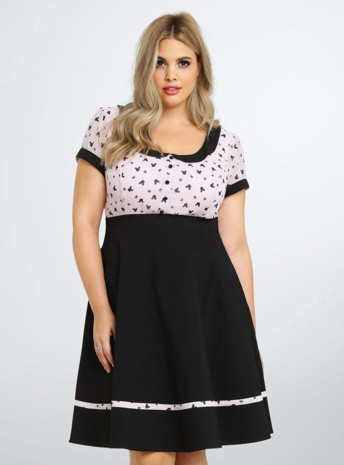 платье для полных в деловом стиле