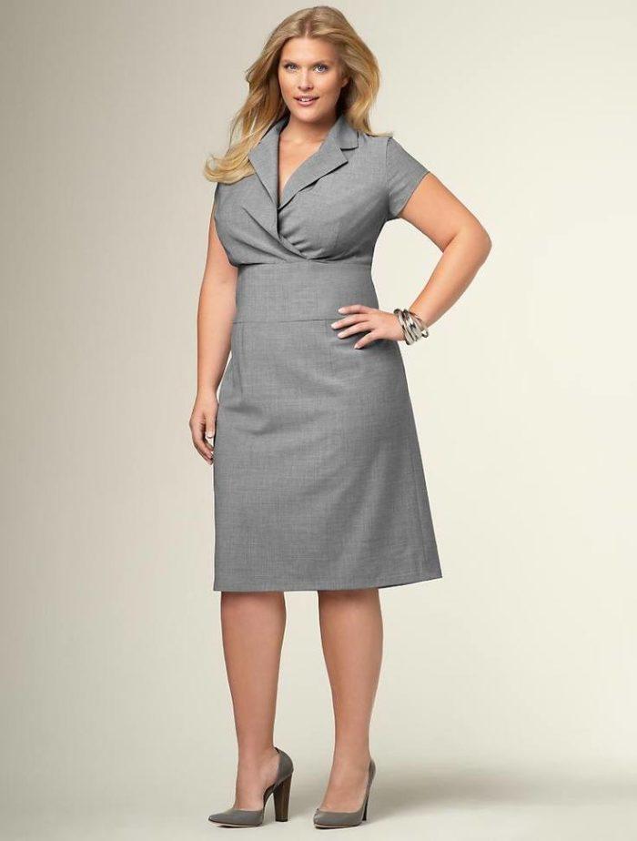 офисные платья для полных
