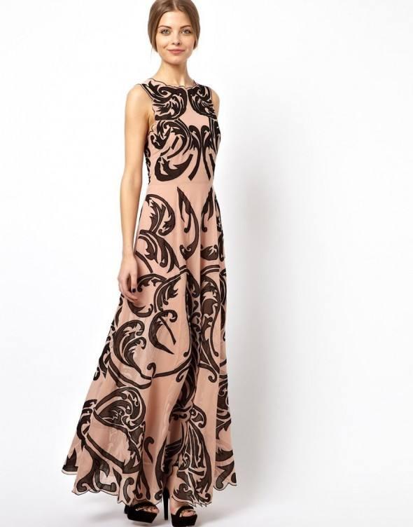 длинное новогоднее платье
