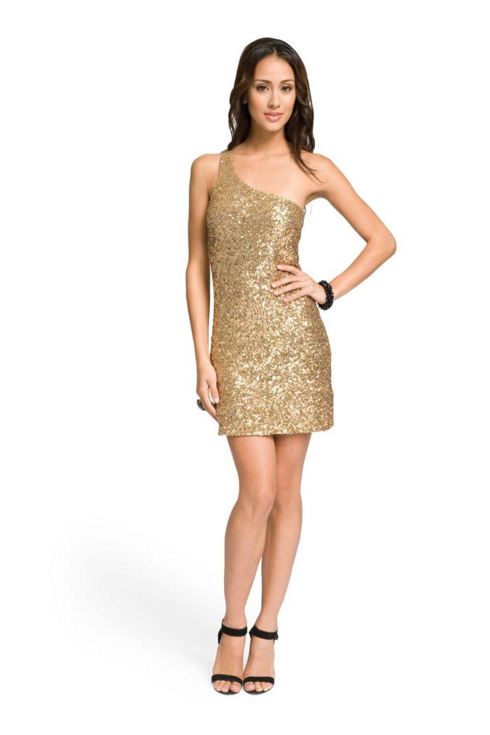 блестящее новогоднее платье