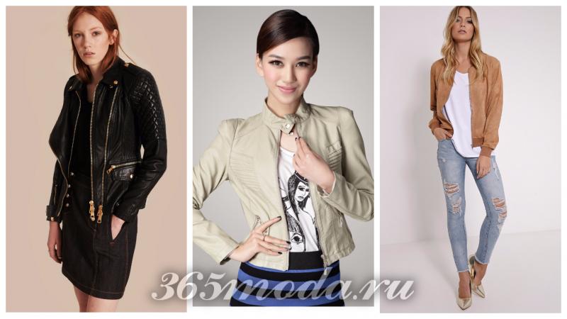 Что модно носить весной: куртки черная оливковая коричневая