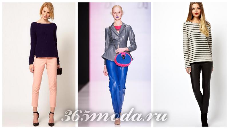 Что модно носить весной, модные весенние брюки: розовые, синие, черные