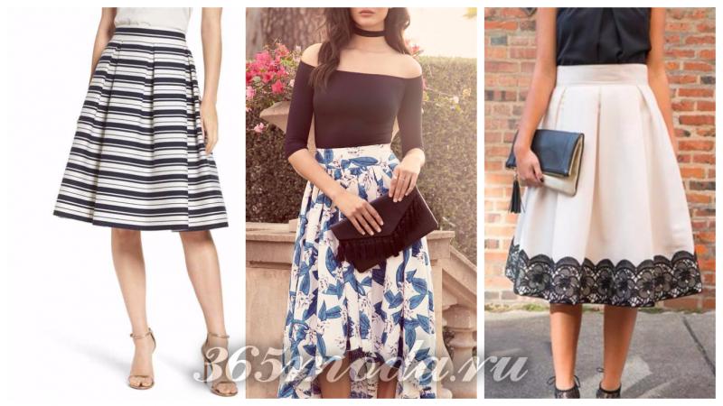 Что модно носить весной: полосатая юбка с принтом