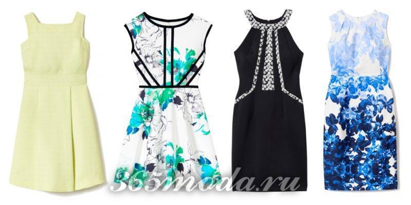 Что модно носить весной: салатовое платье белое с цветами черное с голубыми цветами