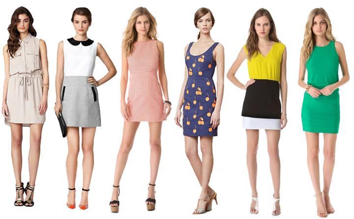 Что модно носить весной, модные принты весны: разные короткие платья