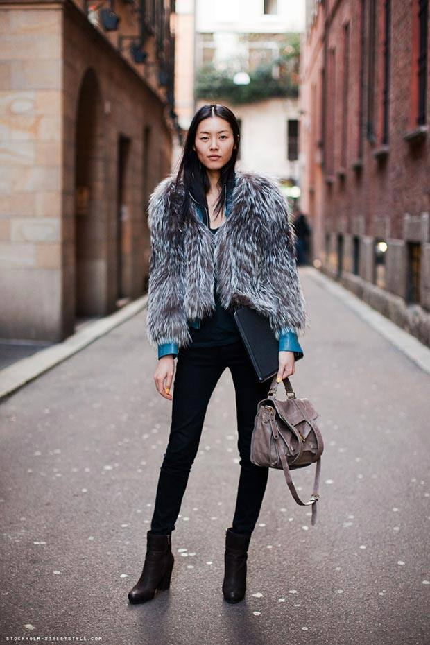 модная уличная верхняя одежда