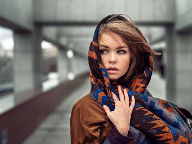 модный платок принт