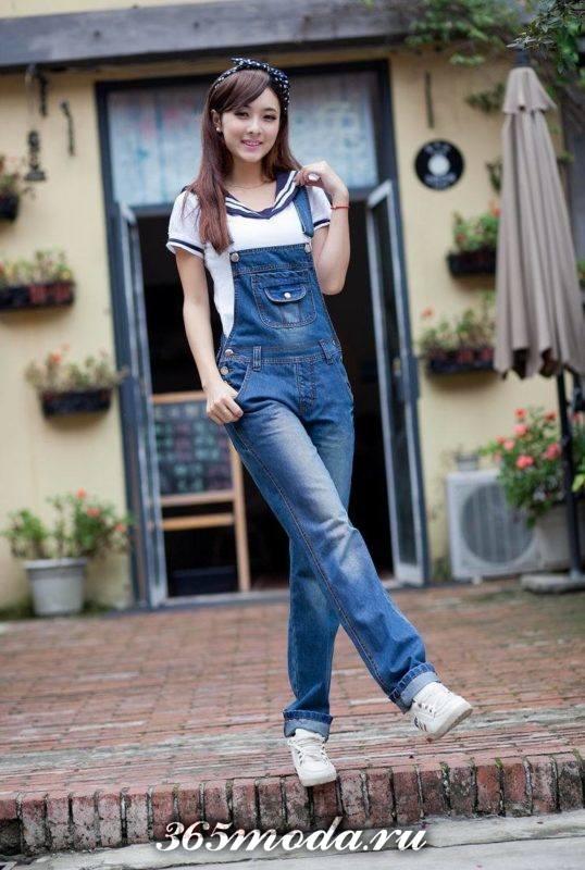 модные комбинезоны из джинса