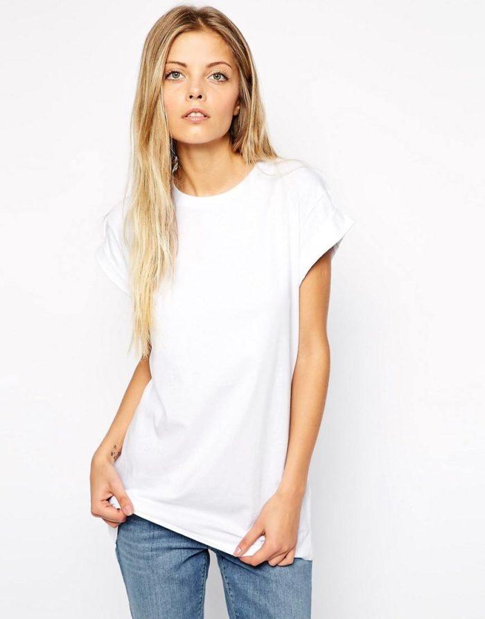 модная длина футболок