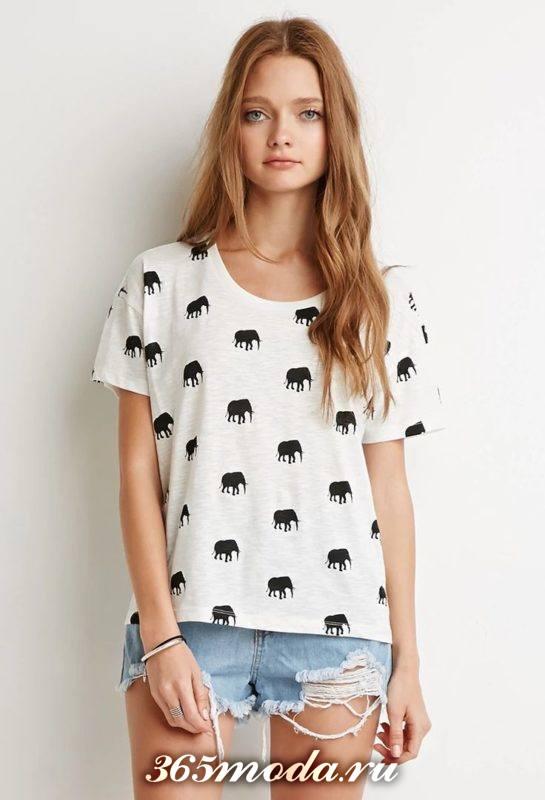 анималистический принт футболок