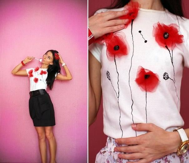 модный декор футболок