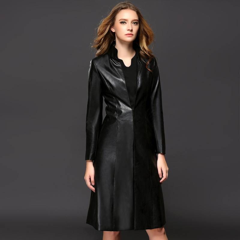 модные кожаные плащи