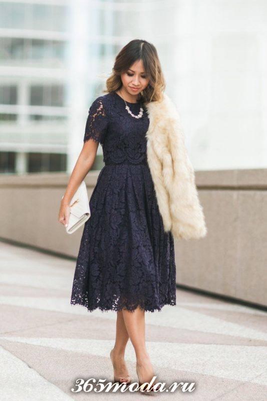 черное кружевное платье на выпускной