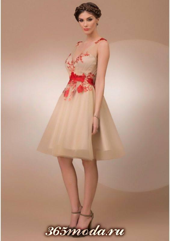 вышивка на выпускных платьях