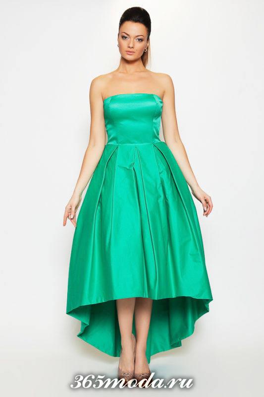 зеленое платье маллет