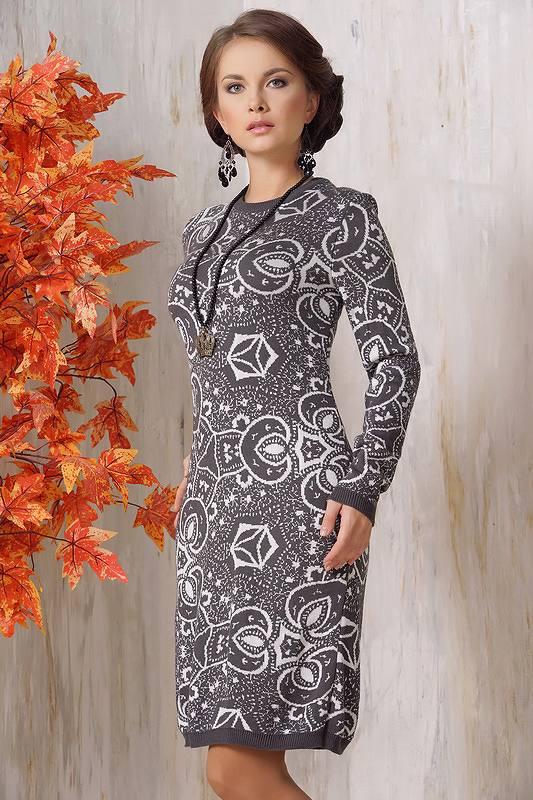модное платье до колена