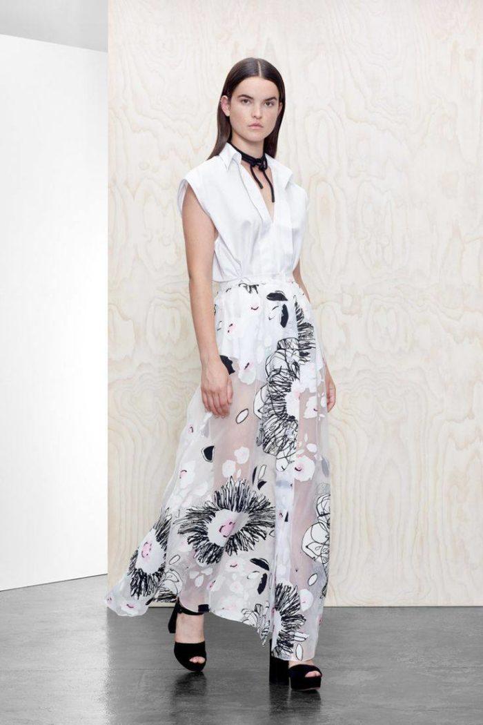 платья весна 2021 с цветочным принтом