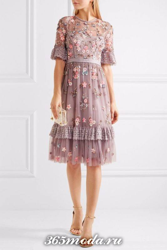 коктейльное платье декор