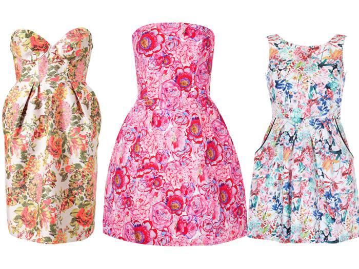 модные платья с принтами