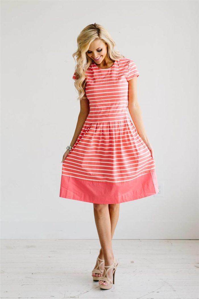 модные повседневные платья весна-лето 2019: цвета