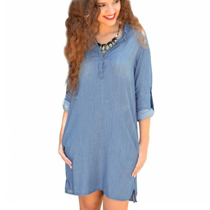 повседневное платье рубашка