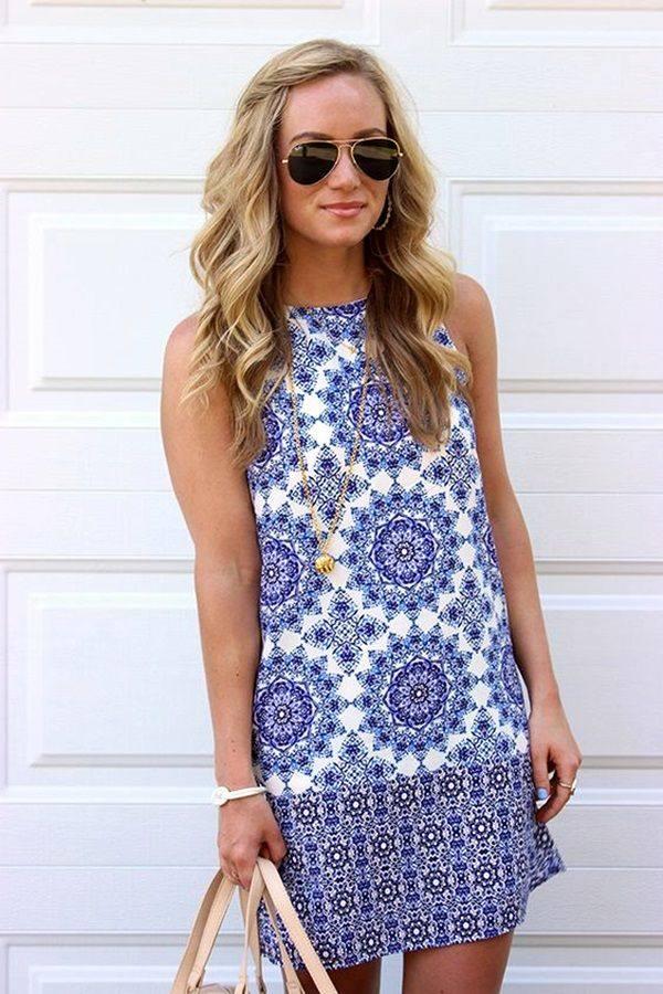 модные принты для платьев
