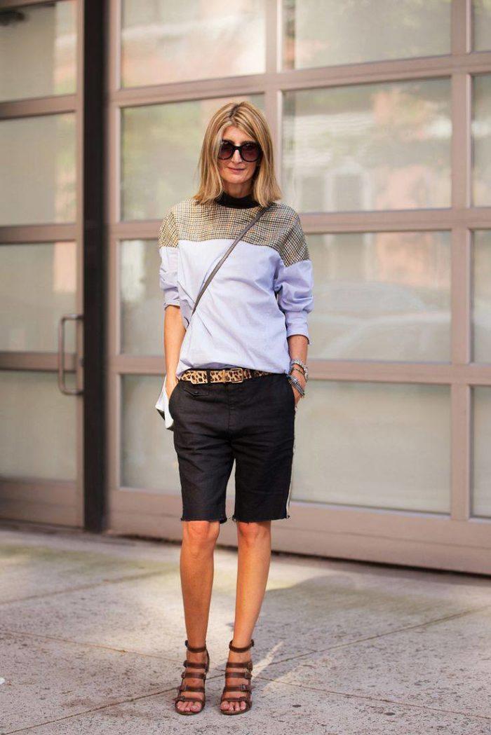 модные удлиненные шорты