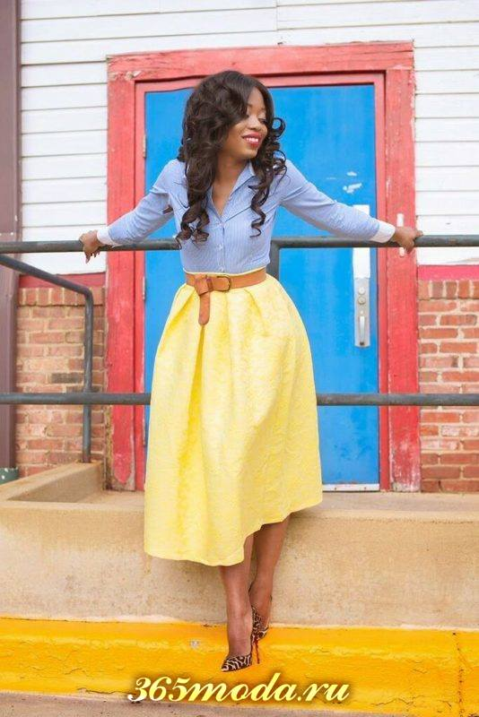 модные юбки миди