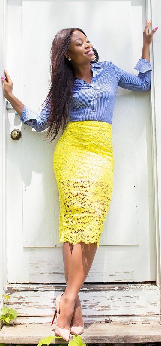 модная кружевная юбка