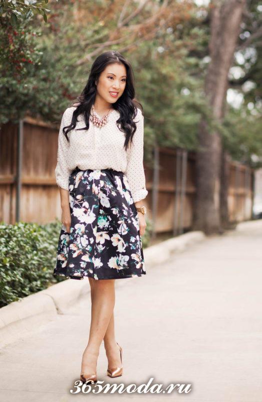 модные юбки сезона принт