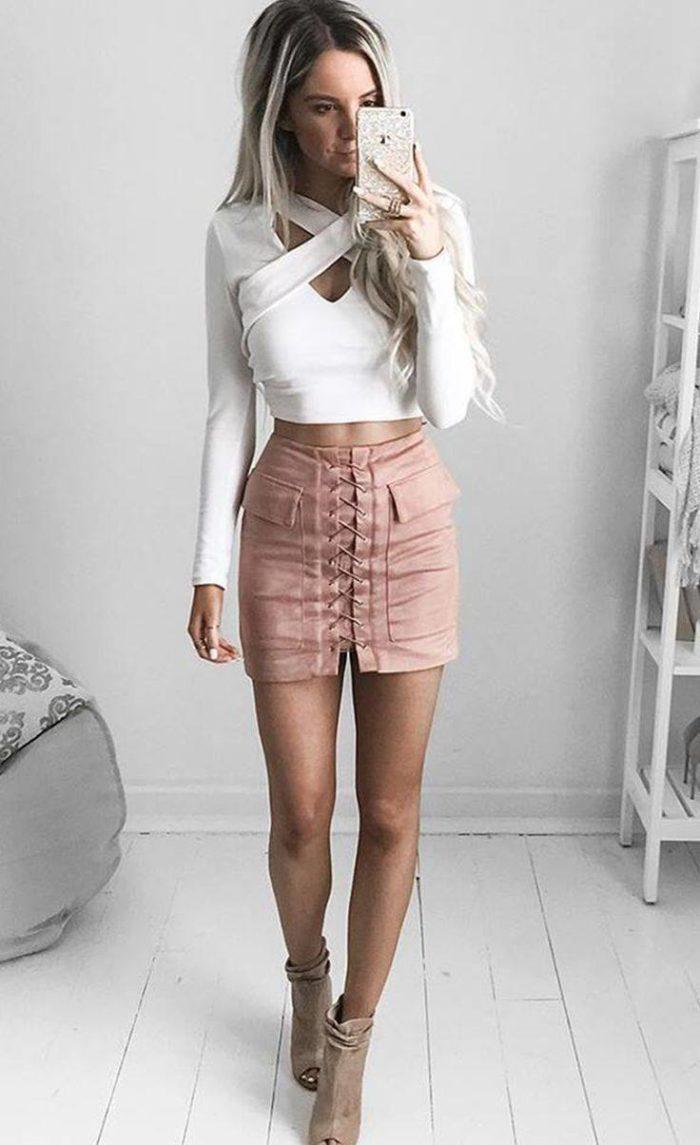 модные мини юбки
