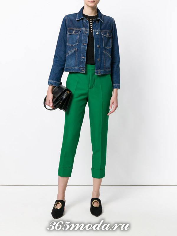 брюки 7/8 зеленые