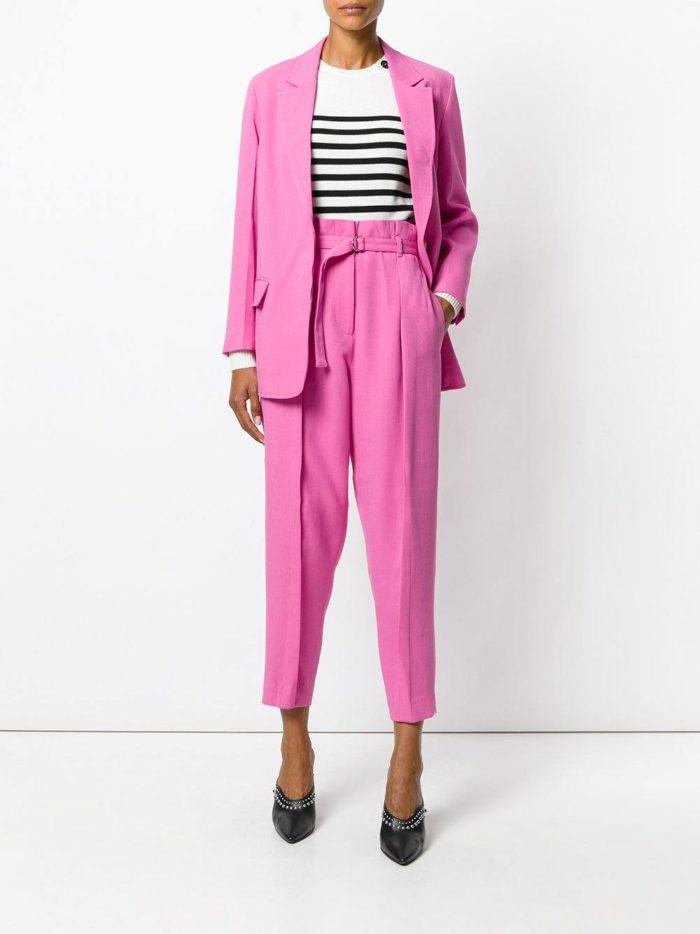 брюки бананы розовые