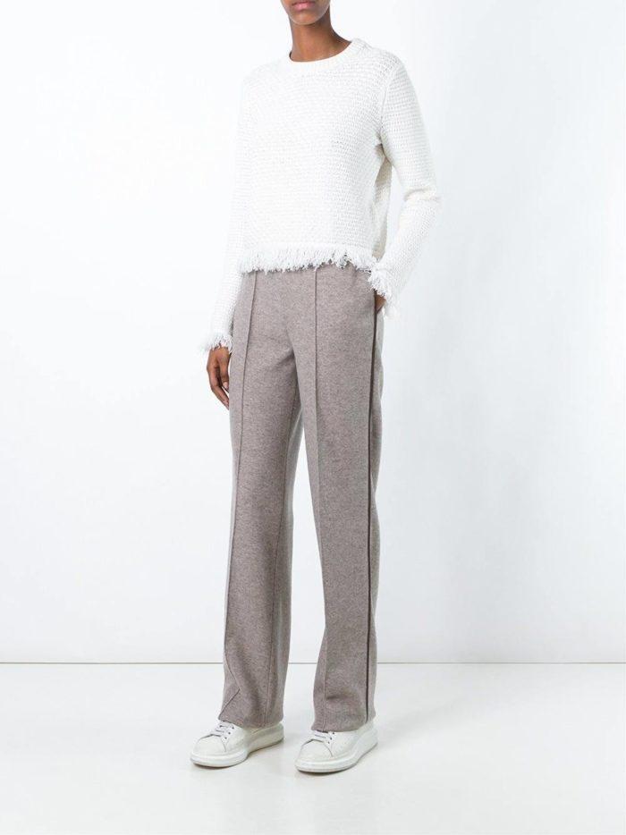 брюки с лампасами серые
