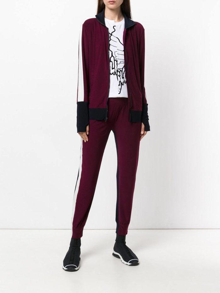 брюки с лампасами бордовые