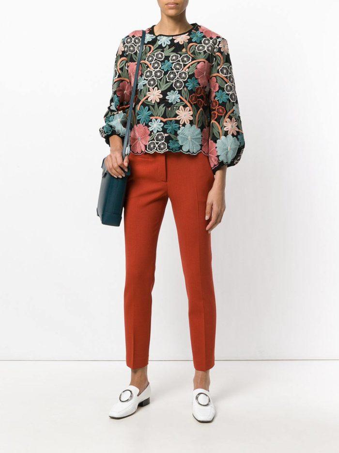 брюки дудочки цветные