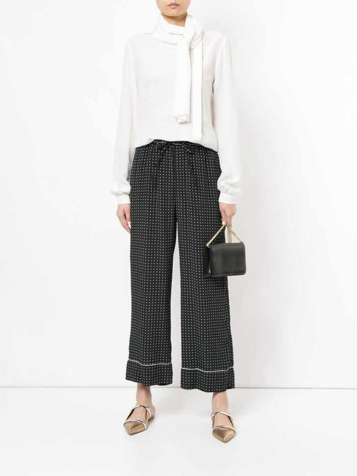 темные брюки весна-лето