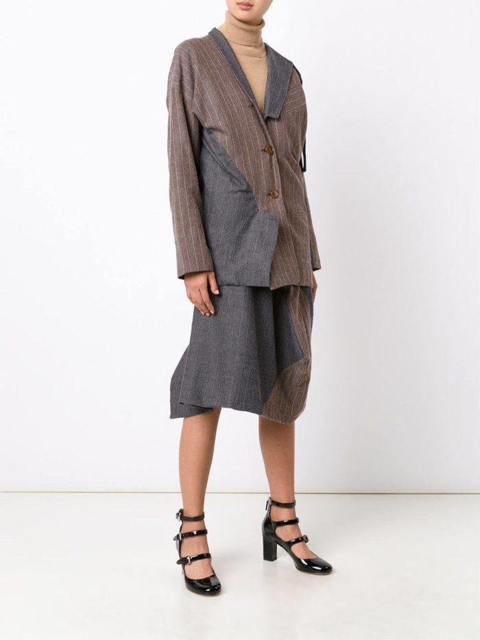 костюм с юбкой модный