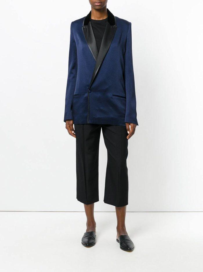 костюм с длинным пиджаком модный
