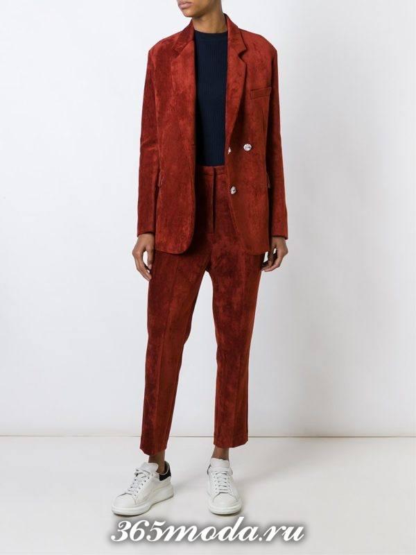 костюм в мужском стиле вельветовый
